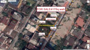 For SaleLandRatchadapisek, Huaikwang, Suttisan : For Sale: [Land for Sale - Near Victory Monument] Soi Bun, size 1 rai 17 sq.wa (417 sq.wa)